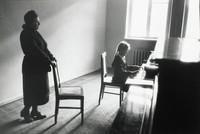 Piano Lessons, Odessa, Elliott Erwitt, gelatin silver print
