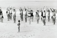 Beach Group, Sylt, West Germany, Elliott Erwitt, gelatin silver print