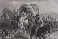 Emigrants Crossing The Plains, Drawn by Felix Octavius Carr Darley, Engraved by Henry Bryan Hall Jr., engraving
