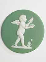 Green and white jasper with one of Flaxman's Seasons