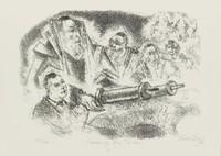Reading the Torah, Chaim Gross, lithograph