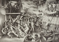 Carnival in New Orleans, John McCrady, lithograph