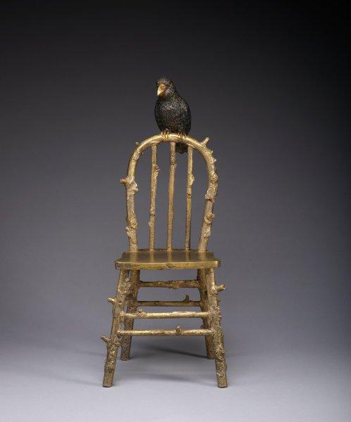 Parrot Chair, Frank Fleming, brass