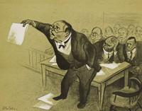 Arbitration, William Gropper, color lithograph