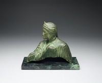 Bust of Dante, Giuseppe Moretti, bronze