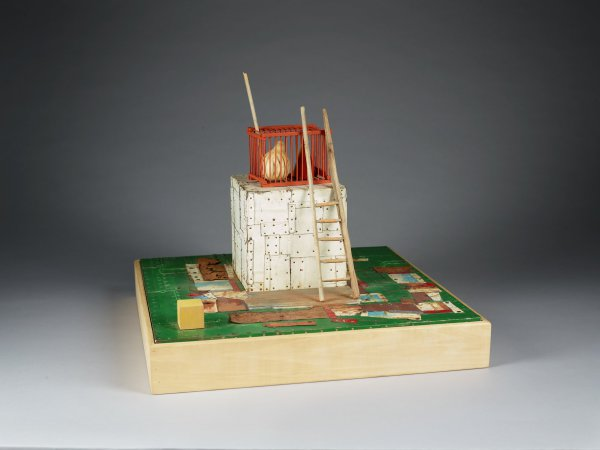 Southern Monument I, William Christenberry, wood, metal, paint