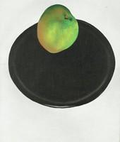 The Green Apple, Georgia O'Keeffe, oil on canvas