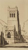 St. Mary's Church, Birmingham, Alabama, Louis Conrad Rosenberg, drypoint