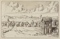 A Lonely House, Charles Burchfield, pen and ink with wash