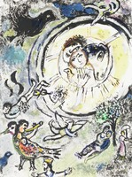 Enchanted Flute #1, Marc Chagall, lithograph
