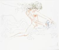 Samson And Delilah, Salvador Dali, drypoint, engraving