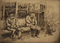 BMT Subway, Mortimer Borne, etching