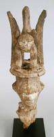 Figure, Itsogo people, Nigeria, African, wood, raffia, and kaolin