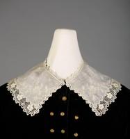 Collar, Ireland, cotton with linen ground