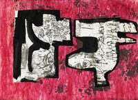 Drawing No. 5 - Plants, Sir Eduardo Luigi Paolozzi, collage, ink, paper