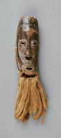 Miniature Mask, Lega people, Democratic Republic of the Congo, African, ivory, raffia
