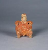 Seated Female Figure, Jalisco culture, Pre-Columbian, earthenware; paint