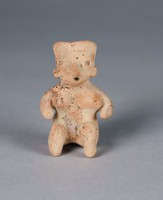 Seated Female Figure, Nayarit culture, Chinesco culture, Pre-Columbian, earthenware and slip