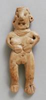 Standing Female Figure, Michoacan culture, Pre-Columbian, earthenware