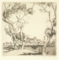 Landscape, Alfred Heber Hutty, etching