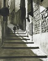 Street of Stairs, Ed Willis Barnett, black and white photograph
