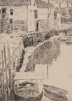 Cos Cob, Childe Hassam, etching