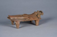 Figure On Pallet, Colima culture, Pre-Columbian, earthenware