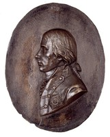 Bust in profile left in uniform with the Order of the Black Eagle. Subject is the brother of King Friedrich Wilhelm III of Prussia.