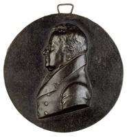 Bust in profile left in civilian dress.