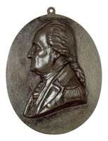 Bust in profile left in the uniform of the American Continental Army.