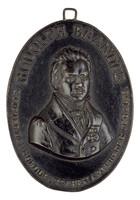 Obverse: Bust of Rudolph Brandes (1795-1832) front.
