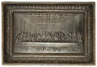 The Last Supper, After a model by Leonhard Posch, Based on an engraving by Raphael Morghen, After the painting by Leonardo da Vinci, Royal Prussian Iron Foundry, Berlin, or Royal Prussian Iron Foundry, Gleiwitz, cast iron