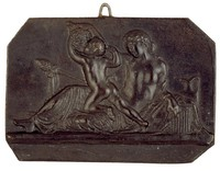 Bacchante and a Child Satyr, Modeled after a relief (1833) by Bertel Thorwaldsen, Ilsenburg, cast iron