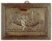 Cupid Sailing, Modeled after a relief (1831) by Bertel Thorwaldsen, Ilsenburg, cast iron