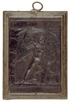 Cupid Sets Stone on Fire, Modeled after a relief (1831) by Bertel Thorwaldsen, Ilsenburg, cast iron