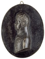 Bust in profile left in uniform with the Order of the Black Eagle.