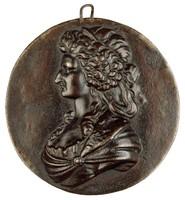 Bust in profile left. Anna Amalia was the aunt of Friedrich Wilhelm, Duke of Brunswick-Oels.