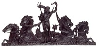 A silhouetted figural plaque.