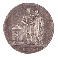 Classical Marriage Scene, Royal Prussian Iron Foundry, Gleiwitz, cast iron