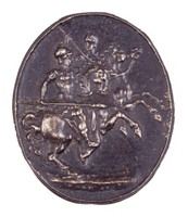Classical Warriors on Horseback, Royal Prussian Iron Foundry, Gleiwitz, cast iron