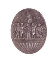 Sacrifice to Hymen, Royal Prussian Iron Foundry, Gleiwitz, After a model by John Flaxman, Jr., Based on an engraving by Francesco Bartolozzi, cast iron