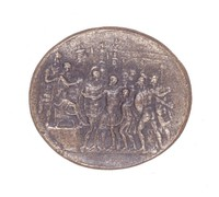 Emperor Constantine Receives a Germanic King, Royal Prussian Iron Foundry, Gleiwitz, cast iron