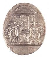 Sacrificial Scene, Royal Prussian Iron Foundry, Gleiwitz, cast iron
