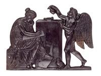 Allegory of Art and the Light Bringing Genius, Modeled by Georg Conrad Weitbrecht, Wasseralfingen, cast iron