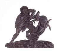 Hercules and the Cerynitian Hind, Modeled by Georg Conrad Weitbrecht, Wasseralfingen, cast iron