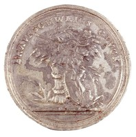 Obverse: Emblems of agriculture and commerce with Brunswick's coat of arms. Reverse: A baby in the arms of an angel.