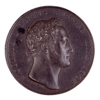 Obverse: Laureate head in profile right. Reverse: Within laurel wreath, an inscription, commemmorating the victory of General von Diebitsch bei Schumla during the Russo-Turkish War of 1828-1829