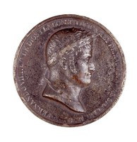 Obverse: Bust in profile right. Reverse: Two allegorical figures on both sides of a small column with tablets of the law.