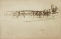 The Little Putney, No. 1, James Abbott McNeill Whistler, etching