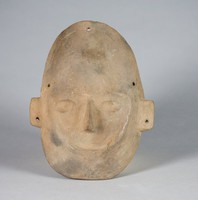 Funerary Mask, Colima culture, Pre-Columbian, earthenware and slip